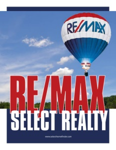 RE/MAX Select Realty brochure cover.