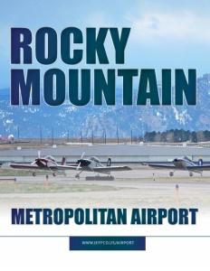 Rocky Mountain Metropolitan Airport brochure cover.