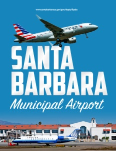Santa Barbara Municipal Airport brochure cover.