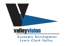 Valley Vision logo. Economic Development Lewis-Clark Valley.