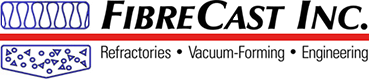 FibreCast Inc. Logo. Refractories, Vaccum-Forming, Engineering.