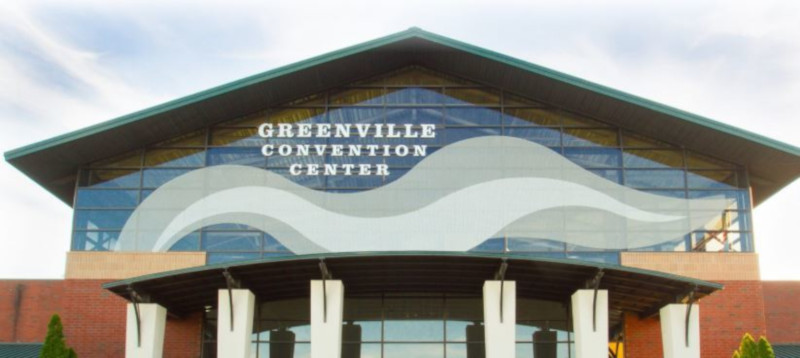 Greenville Convention Center, front of building.