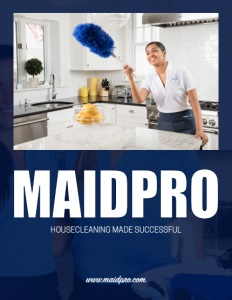 Maidpro brochure cover.