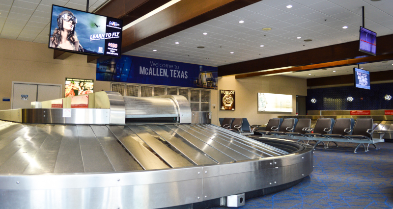 McAllen International Airport baggage pickup.