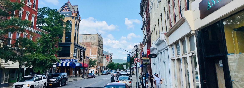 Poughkeepsie New York main street looking west.