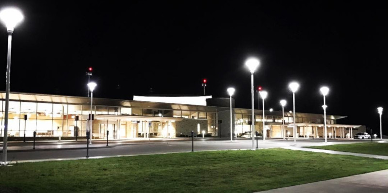 Wichita Falls Regional Airport at night.