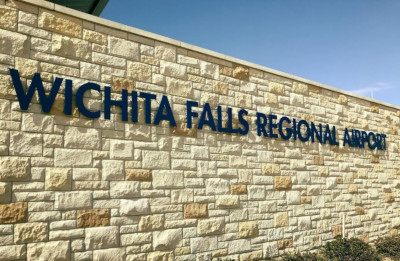 Wichita Falls Regional Airport sign.