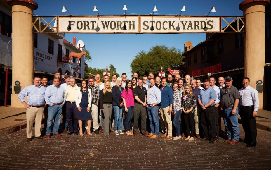 5 / Energyby5 group photo at Fort Worth Stock Yards.