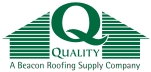 Quality Roofing Supply Company logo.