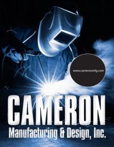 Cameron Manufacturing & Design, Inc. brochure cover.