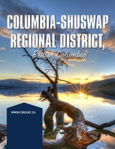 Columbia-Shuswap Regional District, British Columbia brochure cover.