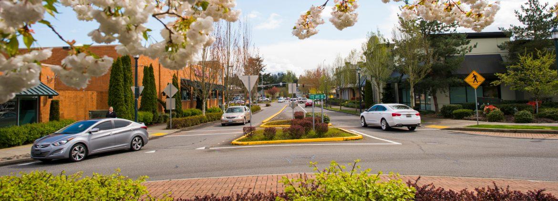 Covington, Washington city street view.
