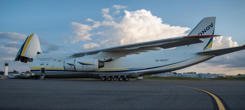 Dothan Regional Airport international cargo plane.