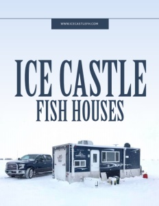 Ice Castle Fish Houses brochure cover.