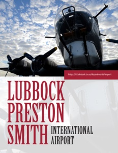 Lubbock Preston Smith International Airport brochure cover.