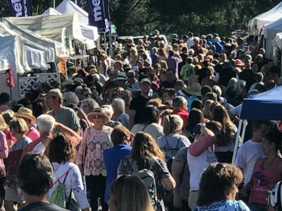 Mount Dora, FL crowd at event.