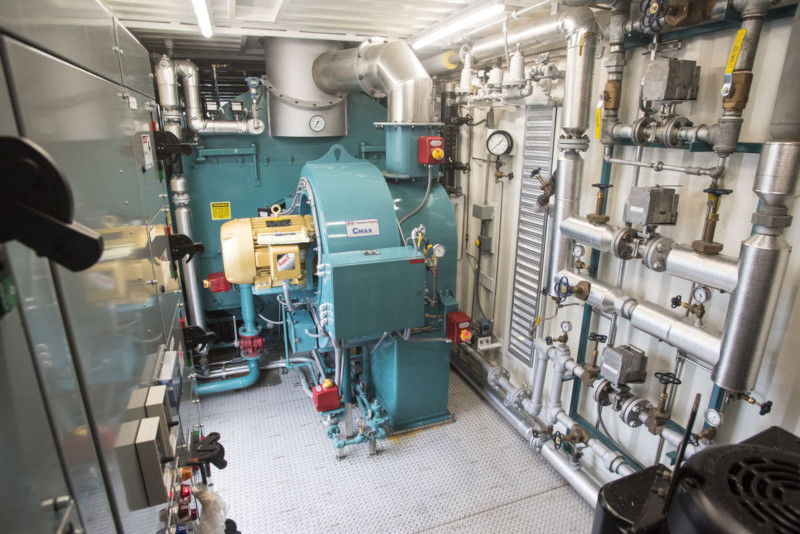 Nationwide Boiler Inc., inside the world's largest mobile boiler room. 1000hp.