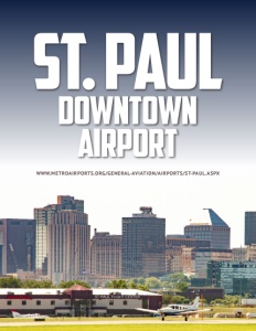 St. Paul Downtown Airport brochure cover.