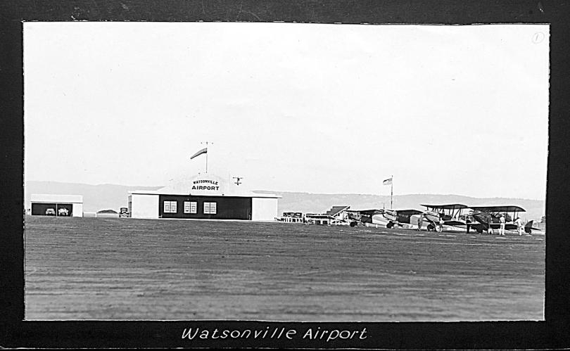 Watsonville Municipal Airport photo from 1930s.