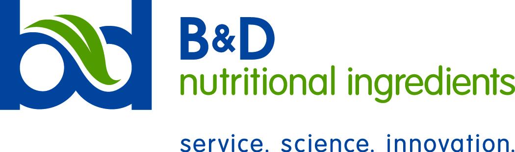 B&D nutritional ingredients logo.