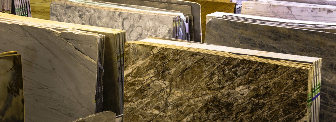Agco Inc. Craftmark Solid Surfaces Inc. slabs in the showroom.