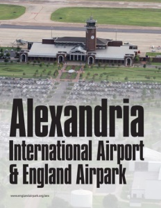 Alexandria International Airport & England Airpark brochure cover.