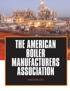 The American Boiler Manufacturers Association brochure cover.
