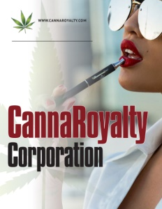 CannaRoyalty Corporation brochure cover.