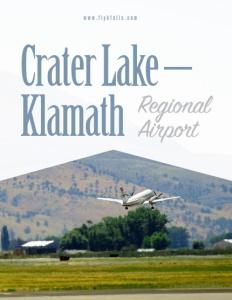 Crater Lake-Klamath Regional Airport brochure cover.