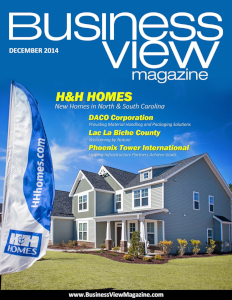 December 2014 Issue cover of Business View Magazine.