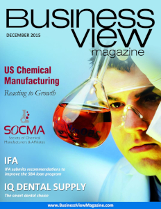 December 2015 Issue cover of Business View Magazine.