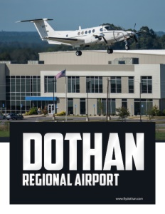 Dothan Regional Airport brochure cover.
