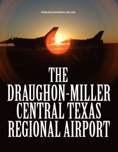 The Draughon-Miller Central Texas Regional Airport brochure cover.
