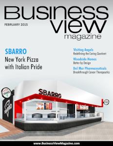 February 2015 Issue cover of Business View Magazine.