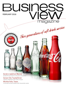 February 2016 Issue cover of Business View Magazine.