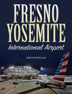 Fresno Yosemite International Airport brochure cover.