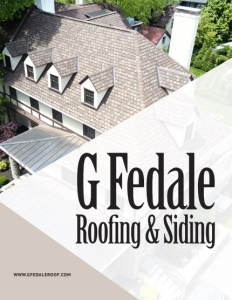 G Fedale Roofing & Siding brochure cover.
