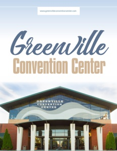 Greenville Convention Center brochure cover.