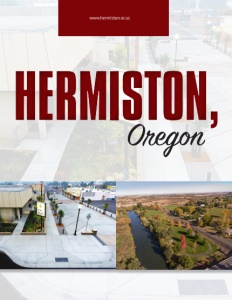 Hermiston, Oregon brochure cover.