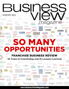 January 2015 Issue cover of Business View Magazine.