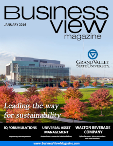 January 2016 Issue cover of Business View Magazine.