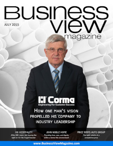 July 2015 Issue cover of Business View Magazine.