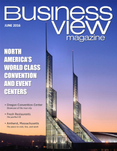 June 2016 Issue cover of Business View Magazine.