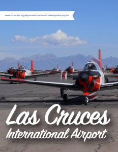 Las Cruces International Airport brochure cover.