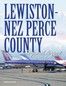 Lewiston-Nez Perce County Regional Airport brochure cover.