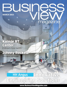 March 2015 Issue cover of Business View Magazine.