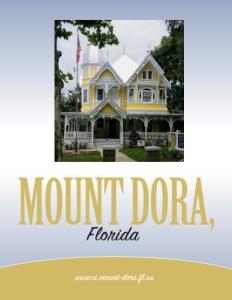 Mount Dora, Florida brochure cover.