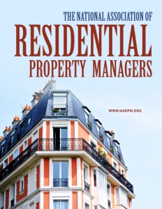 The National Association of Residential Property Managers brochure cover.