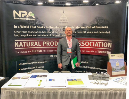 National Products Association event booth.