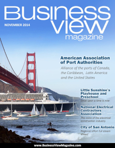 November 2014 Issue cover of Business View Magazine.
